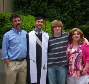 My family at my son, Tim's graduation from Virginia Tech.